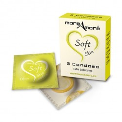 MoreAmore - Condoom Soft Skin 3 st.