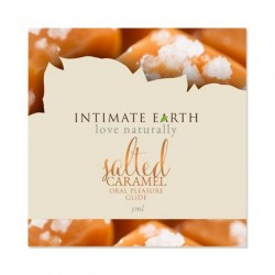 Intimate Earth - Oral Pleasure Glide Gezouten Caramel Foil 3 ml