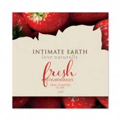 Intimate Earth - Oral Pleasure Glide Frisse Aardbeien Foil 3 ml