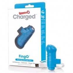The Screaming O - Charged FingO Finger Vibe Blauw